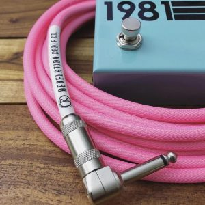 pink guitar cable