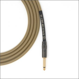 Dark Gold Tweed Guitar Cable